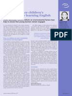 How to Enhance Children's Motivation for Learning English