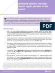 Financing the Unfinished Business of Gender Equality - technical brief (short version)