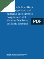 ANALISIS DE LA CULTURA DE SEGURIDAD ESPAÑA