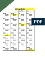 Carnoustie & Monifieth Darts - Doubles- Venues, Board Controllers in Yellow