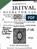 CONQUISTA ESPIRITUAL - 1639 - ANTONIO RUIZ DE MONTOYA - PORTALGUARANI