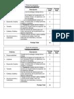 Pauta de evaluación teselaciones