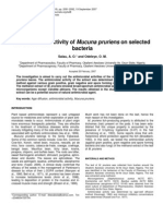 Antimicrobial Activity of Mucuna Pruriens on Selected