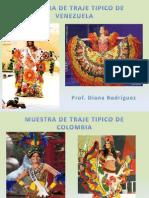 Traje Tipico Colombia, Venezuela y Brasil