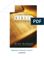 12 Maneiras de Estudar a Biblia Sozinho Rick Warren
