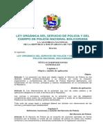 09. Ley Orgánica del Servicio de Policía y del Cuerpo de Policía Nacional Bolivariana (1)