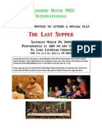 "Flyer for ""Last Supper"" play at St. Luke, Haslett, MI  on March 29, 2914"
