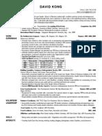 David Kong Resume - 2009