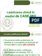 Codificarea clinică în mediul de CASE-MIX