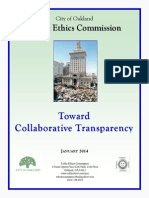 Oakland Public Ethics Commission Report On Transparency