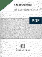 J. M. Bochenski-Ce Este Autoritatea-Humanitas (1992) (1) (1)