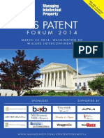 Agenda - Managing IP US Patent Forum 03.25.2014