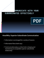 How to Communicate With Your Subordinates Effectively