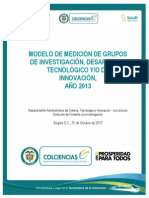 Modelo de Medicion Grupos 20131
