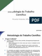 Metodologia do Trabalho Científico - FATENE - Aulas 01 a 05
