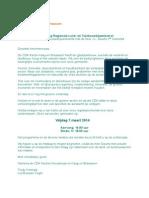 Uitnodiging 7 Maart 2014 Bezoek J Geurts Kaag en Braassem