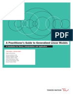Generalized Linear Models Actuarial