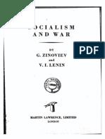 Grigorii Zinoviev - Socialism and War