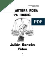 LA PANTERA ROSA YA MURIÓ - Julián Garzón Vélez