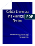 Cuidados de Enfermeria Para Enfermos de Alzheimer y Otras Demencias