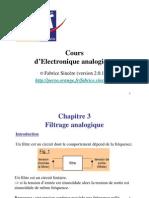 Cours Electronique Analogique Filtrage