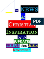 IN the NEWS & Christian Inspiration by VK,November 2013 to March 2014 (11/15/13 to 03/01/14)