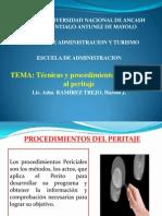 Técnicas y procedimientos aplicados al peritaje