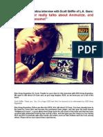Kiss Army Argentina Interview - Scott Griffin - March 2014