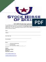 2014 shod membership application