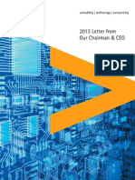 Accenture 2013 Letter From Our Chairman and CEO