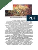 Pintura Representativa de La Batalla de La Conquista