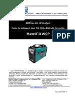 Manual MaxxiTIG 200P Ver3