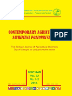 ContemporaryAgriculture, Vol. 62, No. 1-2, 2013.