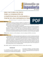 Factores de Exito Para La Formacion de Competencias en Ingenieria