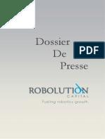Robolution - Dossier de Presse