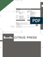 Breville 800CPXL Manual