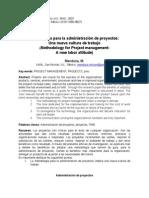 Articulo Metodologia Administracion de Proyectos -Mendoza