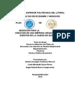 71310075 Plan de Negocios Para La Creacion de Una Empresas Organizadora de Eventos en La Ciudad de Guayaqu