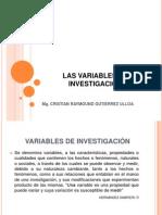 Las Variables de Investigacion