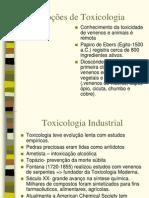 Noções de Toxicologia