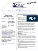 Presents Annual Coalsp Ediscovery Summit