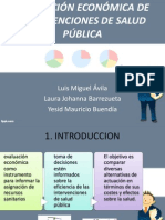 EVALUACIÓN ECONÓMICA DE INTERVENCIONES DE SALUD PÚBLICA