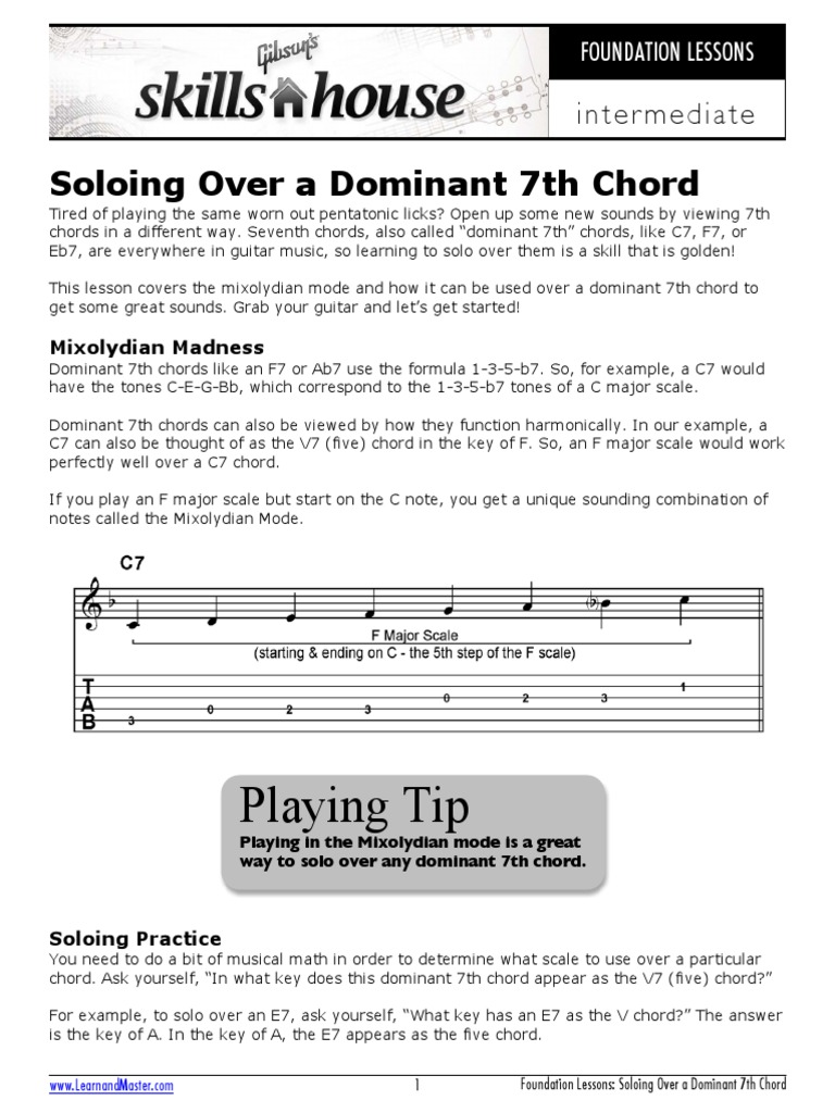 Soloing over a dominant 7th chord chord music scale music hexwebz Choice Image