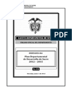 Plan de Desarrollo 2012-2015 Sucre