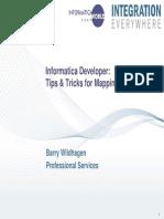 BreakOut Informatica MappingDesigner