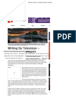 Writing for Television – Nailing the Synopsis _ Writing
