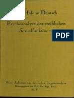 5 Deutsch 1925 Psa Der Weiblichen Sexualfunktionen Text