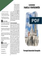 Cancionero Pascua y Pentecostes