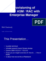 Provisioning of Clusterware - ASM - RAC With Enterprise Manager - SIG