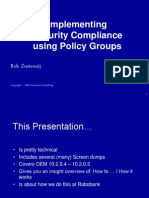 Implementing Security Compliance using Policy Groups - SIG